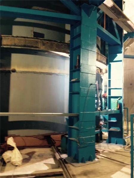 钛钢复合板烟囱安装