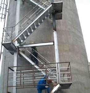 烟囱安装往返折梯